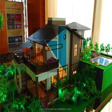 Acrylic,ABS,LED Lights ,Miniature Scale Model ,Villa Models