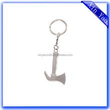 Wholesale custom shaped silver metal 3D keychain