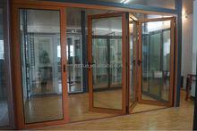 Double glazing aluminium bi-folding door / double glazed aluminum folding door
