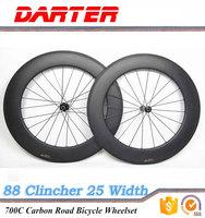Width 25mm 700C 88mm road bike carbon Clincher wheels