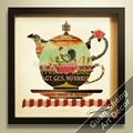 Venta al por mayor de porcelana tetera teakettle pintura del arte moderno para comedor- sala de decoración