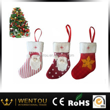 hanging christmas boots ornament with strip and star
