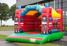 fire truck inflatable bounce house, inflatable jumping castle, inflatable moon walker