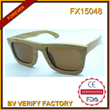 FX15048 Top sell bamboo wood sunglasses with polarised lens