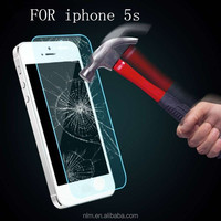 Most popular high clear Tempered 9h glass screen guard for iphone 5s