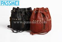 Vintage Full Grain Leather Women Custo-made Handbags, Ladies Real Leather Mini Shoulder bag