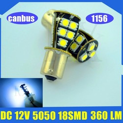 HOT!!! 18smd 1156 5050 canbus Auto led car lamp/light 360LM turn signal light