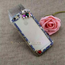 new for iphone 6 case rhinestones, rhinestones cell phone cases for iphone casing with transparent plastic