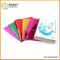 Alibaba wholesale A4 clear self adhesive pvc book cover/ color book cover