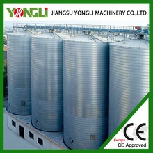Grain storage steel silos for rice bulk material galvanized steel silo used for sales