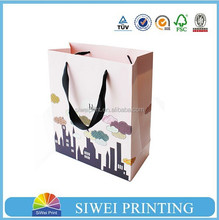2015 Newes Eco-friendly laminated shopping gift paper bag/gift bags canada