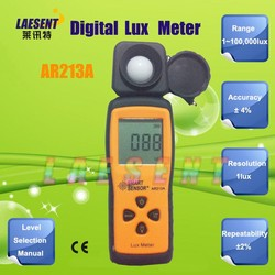 Free Shipping 100.000 Lux AR213 Mini Digital Light Lux Meter