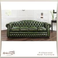 Cheap Leather Chesterfield Sofa Blue Leather Sofa