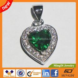 European and American fashion jewelry Wholesale Crystal Pendant, Broken Heart Pendant