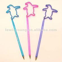 Penguin shaped plastic pen