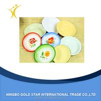 Custom printed enamel dinner plate,enamel dishes plate , printing enamel plates dishes