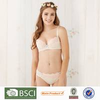 Fancy Smart Girls Bra And Panty Set Transparent Lace Panties