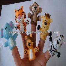 Marioneta del dedo de goma de los animales