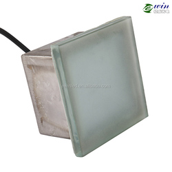 Toughened Glass 20*20cm LED Brick with CE ROHS for Garden