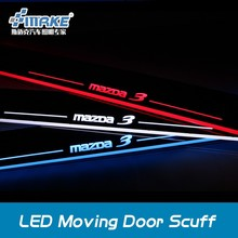 LED MOVING DOOR SCUFF FOR MAZDA 3 AXELA 2014-2015, MAZDA 3 DOOR SILL PLATE, DOOR STEPS FOR MAZDA 6
