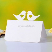 Birds for love wedding card paper table card new arrival(CZ-422)
