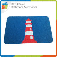 Anti Slip Washable PVC Door Mat, Rubber Backed Rugs, Rubber Bath Mat