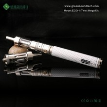 3.7v lipo e-cigarette 2200mAh Battery eCigarette Vaporizer alibaba express GS eGo II Twist Mega Kit Atomizer vaporizer pen