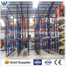 warehouse stacking storage push back pallet rack system