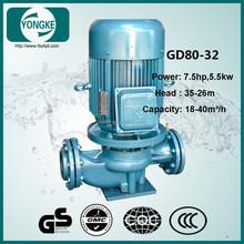 GD low noise 30m3/h 32m head 7.5hp 5.5kw inline water pump