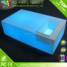 modern plastic cube coffee table for living room