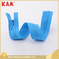 Fancy customized length bag invisible nylon zipper