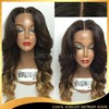 2015 New Arrival Fashion Wig Brazilian Human Hair Tangle Free Ombre Lace Wig