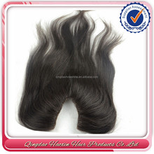 Factory stock u part peruvian human hair lace closures