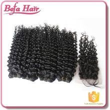 4x4 bleached knots various wave 100% virgin brazilian human hair lace closure with baby hair