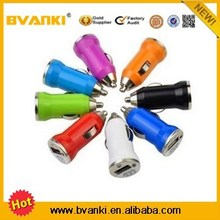 Colorful car usb charger wholesale for cell phone charger