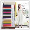 Fashion fabric chiffon fabric 95%polyester 5% spandex fabric with stretch for blouse shirts trousers