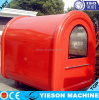 movable kiosks New Mobile fruit carts for sale food truck hot dog carts fast food cart YS-BF230-2
