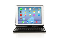 BQB certificated 360 degree rotatable Plastic wireless Bluetooth keyboard for iPad air with protective case