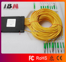 High stability ABS Box 1*16 Fiber Optic PLC Splitters/Couplers with FC/APC connectors