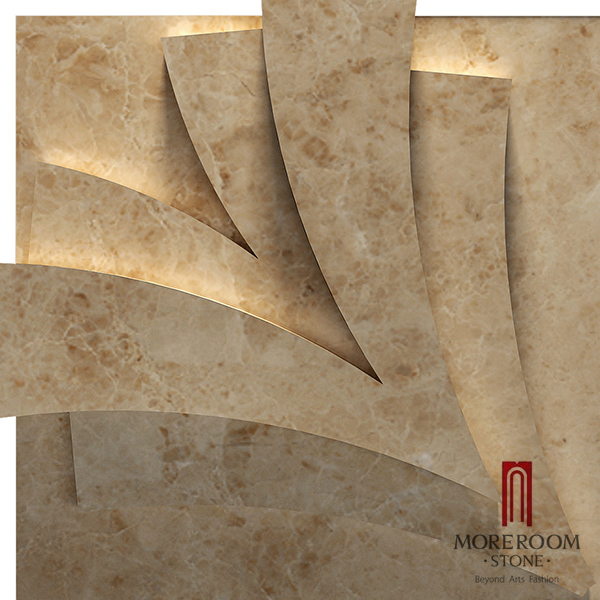 MPC178R-H08 Turkish Cappuccino Marble Stone Marble wall panel CNC WALL TILES 3D DECOR  MOREROOM STONE.jpg