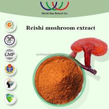 free sample HACCP KOSHER FDA ganoderma extract,advantage supplement 30% polysaccharide reishi mycelium extract