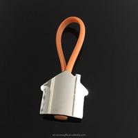 Existing house shape key chain, No Minimum Custom Car Logo Metal Keychain