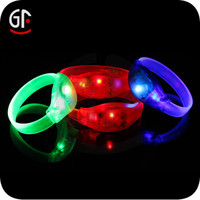 Promotional China Manufacture Hot sale Popular Sound Activated Led Bracelet