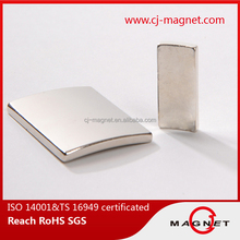 N40 permanent Arc Shape and Permanent Type Wind Tubrine Magnet