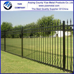 ISO9001 Factory Cheap Residential Ornamental Wrought Iron Fence Models Design for home garden (factory)