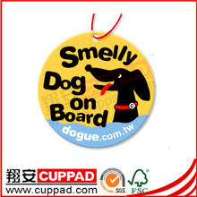 hanging cotton paper car air freshener with many designs and scents,paper smell