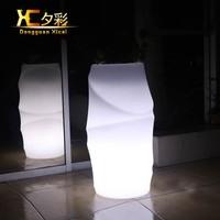 Big Stand Plastic Luminous Cordless Chargeable LED Flower Pot