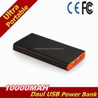 Orange&Black 10000mAh Brilliant Ultra Slim Dual USB(2.1A 1.5A Output)Portable Power Bank
