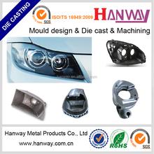 China manufacture OEM aluminum die casting automobile led headlight housing, motorcycle headlight enclosure