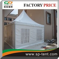 5x5m heat resistant party tents with decorative linings for sale